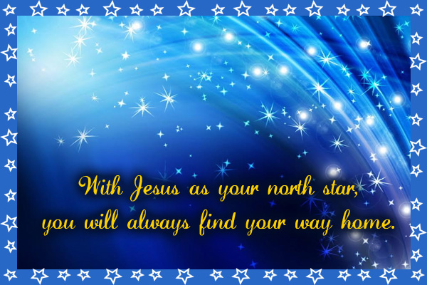 Jesus North Star LDS E-Card