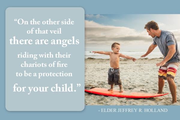 Angels on Chariots Primary Mormon Ecard