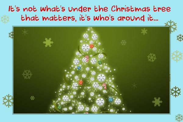 Around the Christmas Tree Mormon LDS Ecard