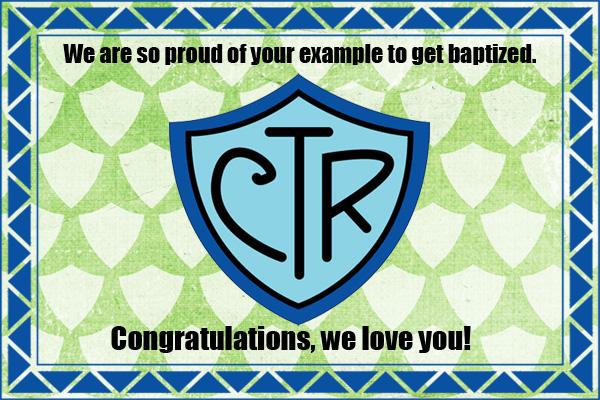 Baptism CTR Congrats Mormon E-Card