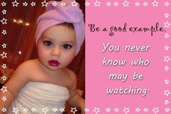 Be a Good Example Primary Mormon Ecard