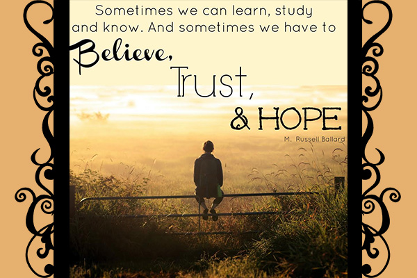 Believe Trust Hope Mormon E-Card