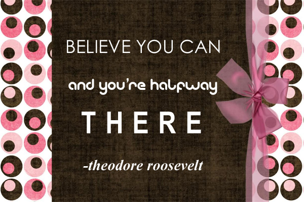 Believe You Can LDS Young Womens Ecard
