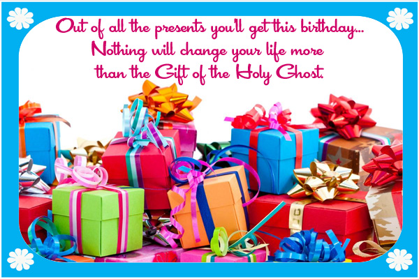 Birthday Gift of Holy Ghost Mormon E-Card