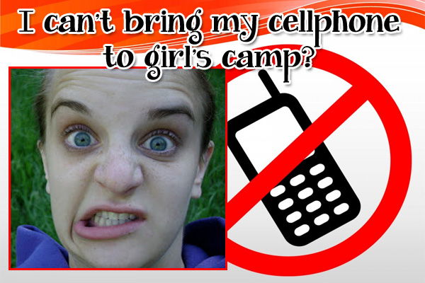 Cell Phone Girls Camp LDS Young Womens Ecard