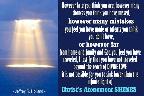 Christs Atonement Shines Mormon E-Card