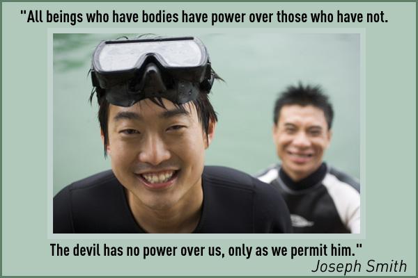 Devil No Power over Us LDS Mormon E-Card