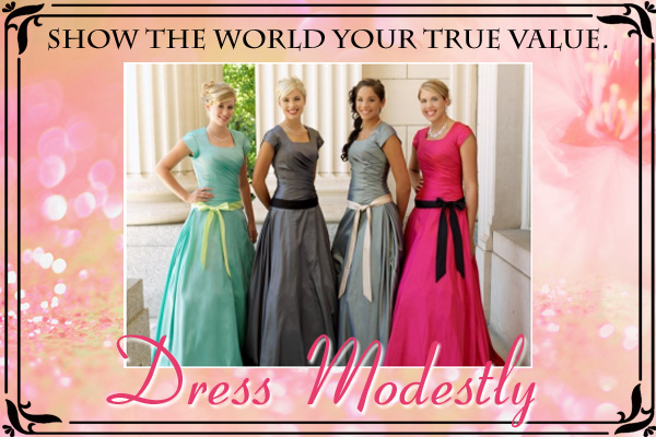 Dress Modestly LDS Young Womens Ecard