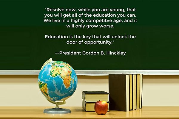 Education Opportunity Mormon E-Card