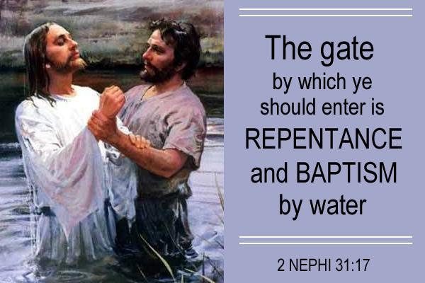Gate Enter Baptism Mormon E-Card