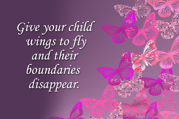 Give Your Child Wings Primary Mormon Ecard