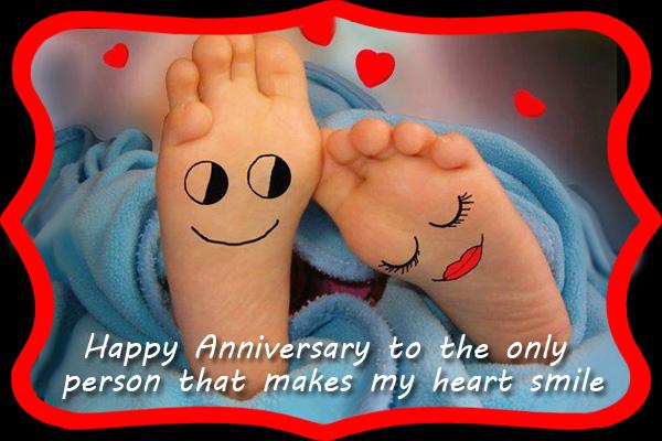 Happy Anniversary Heart Smile Ecard