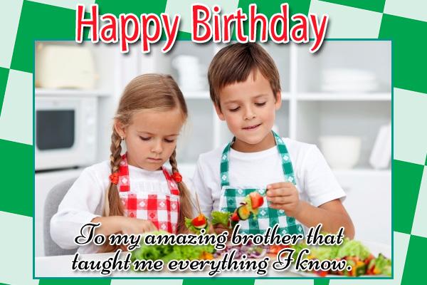 Happy Birthday Amazing Brother Mormon E-Card