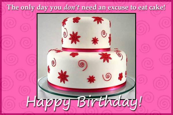 Happy Birthday Eat Cake Mormonn LDS Ecard