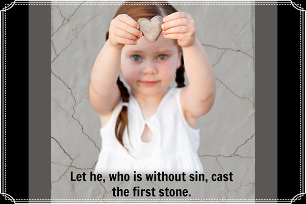 Let He Who is Without Sin Cast First Stone Mormon Ecard