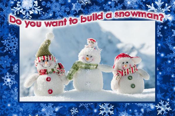 Build a Snowman LDS Mormong Ecard