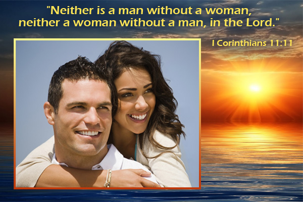 Man Woman Together in the Lord Mormon Ecard