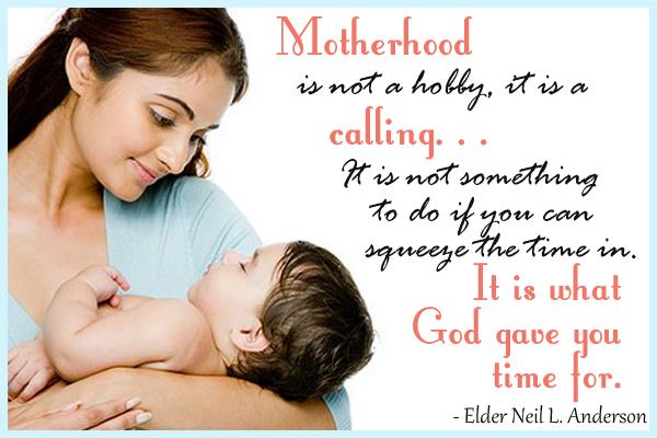 Motherhood is a Calling Ecard