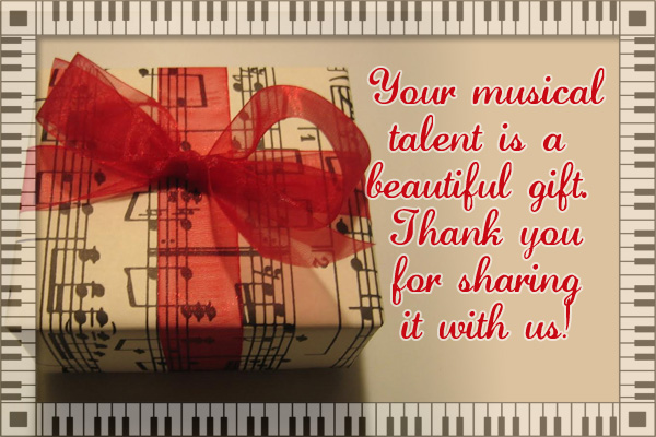 Music is a Gift Mormon Ecard