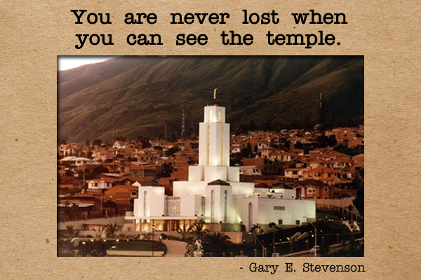 Never Lost When See Temple Mormon E-Card