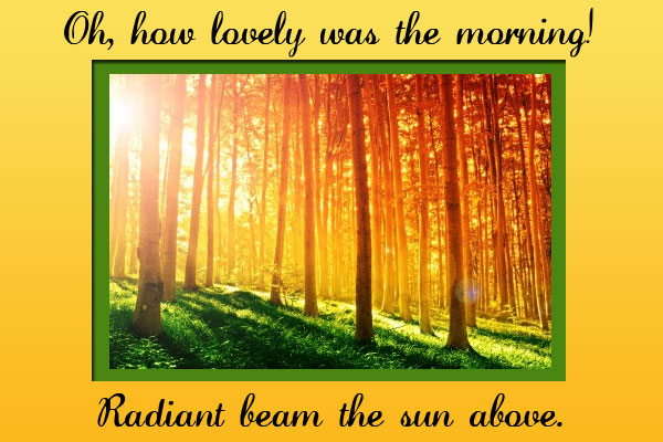 Oh How Lovely Was the Morning Primary Mormon Ecard