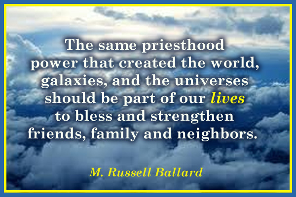 Priesthood Part of Our Lives Mormon Ecard
