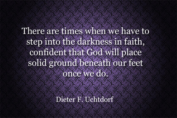 Step into the Darkness Mormon E-Card