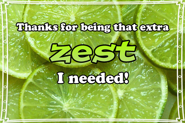Thanks Extra Zest LDS Mormon Ecard